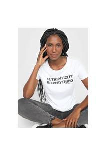 Camiseta Polo Wear Lettering Branca