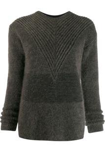 Rick Owens Suéter Listrado Com Mangas Longas - Marrom