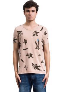 Camiseta Salt35G Lily Dupla Face Marrom