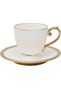 Conjunto 6 Xícaras De Porcelana Para Chá Com Pires Wolff 200Ml – Linha Paddy
