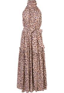Zimmermann Vestido Swing Com Estampa De Leopardo - Marrom