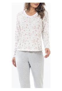 Pijama Longo Mescla Floral Laibel (15.011495)
