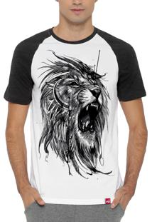 Camiseta Wevans Leão Branco