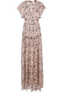 Proenza Schouler Vestido Longo Estampado - Rosa