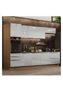 Cozinha Completa Madesa Lux 320004 Com Armário E Balcáo - Rustic/Cinza Cinza