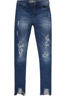 Calça Jeans Khelf Skinny Cintura Alta Jeans