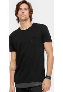 Camiseta Forum Bolso Long Masculina - Masculino
