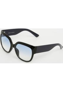 Óculos De Sol Quadrado - Preto & Azulcavalera