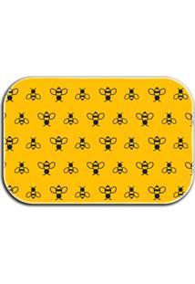 Tapete Decorativo Lar Doce Lar Abelhas 40Cm X 60Cm Amarelo - Amarelo - Dafiti