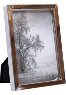 Porta Retrato Minas De Presentes Alumínio 1 Foto 10X15Cm Prata