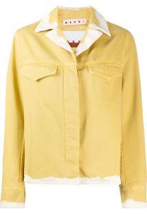 Marni Jaqueta Jeans Manchada - Amarelo