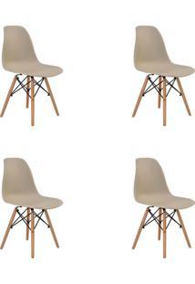 Kit 04 Cadeiras Eiffel S/ Braço Nude Rivatti