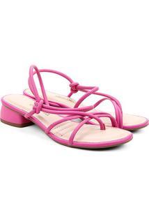 Sandália Dakota Multi Tiras Salto Baixo Feminina - Feminino-Pink