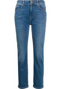 7 For All Mankind Calça Jeans Reta - Azul