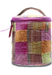 Necessaire Morgana Mimosa Em Patchwork Original - Multicolorido/Rosa - Feminino - Dafiti