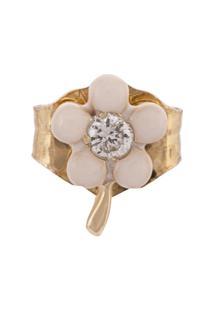 Alison Lou Brinco Único De Ouro 14Kt Com Diamante - Dourado