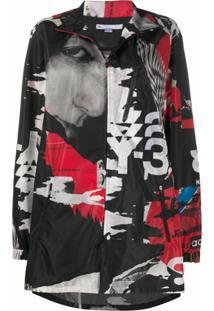 Y-3 Abstract Print Jacket - Cinza