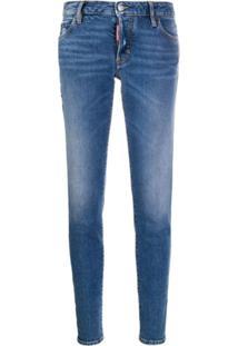 Dsquared2 Calça Jeans Slim Com Efeito Desbotado - Azul