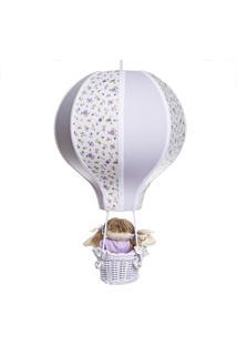 Lustre Balão Com Boneca Potinho De Mel Lilás