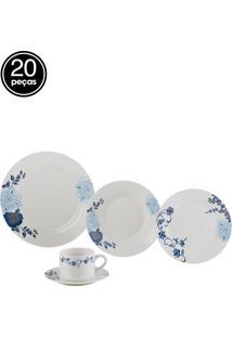 Aparelho De Jantar 20Pçs Porcelana Classic Lyor