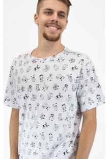 Camiseta Bandup! Turma Da Mônica Personagens Masculina - Masculino-Branco