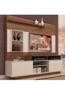 Estante Para Tv Até 60 Polegadas Istambul 2 Portas Nogueira/Off White - Manto Móveis
