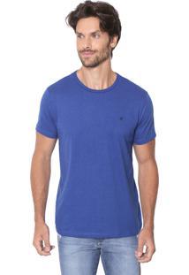 Camiseta Malwee Slim Botonê Azul