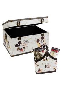 Kit Revisteiro + Baú - Mickey Mouse - Mabruk