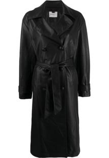 Be Blumarine Trench Coat Com Cinto - Preto