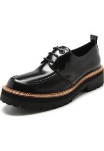 Sapato Couro Ellus Tratorado Preto