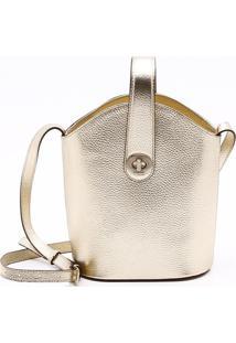 Bolsa Shoulder Bag Couro Ouro Claro - M