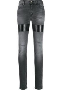 Just Cavalli Calça Jeans Com Patchwork - Cinza