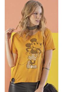 Blusa Com Lantejoulas Amarelo
