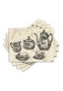Jogo Americano - Jogo De Chá Com 4 Peças - 279Jo