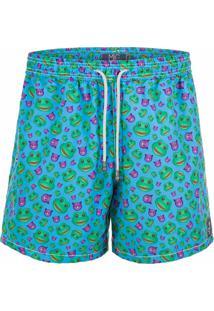 Shorts Mic Fun Pepeca Do Mal Verde