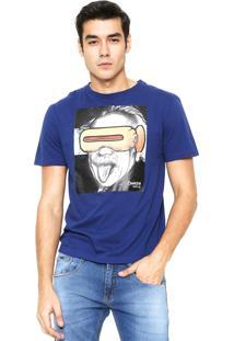 Camiseta Cavalera Einstein Azul-Marinho