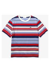 Camiseta Lacoste Relaxed Fit Vermelho