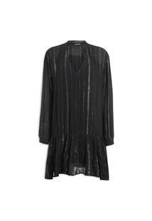 Vestido De Luréx Curto - Preto