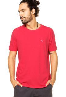 Camiseta Vr Básica Textura Vermelha