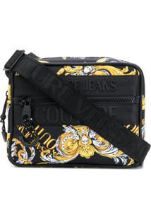 Versace Jeans Couture Barocco-Print Crossbody Bag - Preto