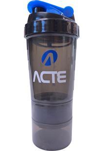 Coqueteleira 500Ml Azul 3 Em 1 Com Mixer - Acte Sports C21