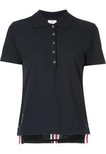 Thom Browne Camisa Polo Mangas Curtas - Azul