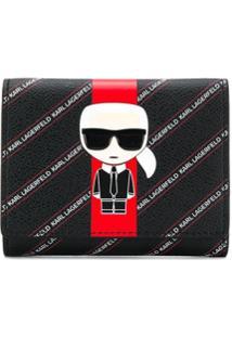 Karl Lagerfeld Carteira K/Stripe Ikonik - Preto