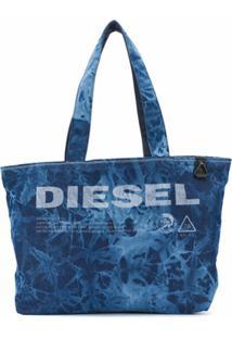 Diesel Bolsa Tote Com Estampa Tie-Dye Not A Toy - Azul