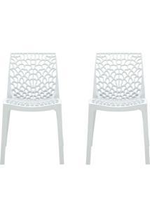 Conjunto De 2 Cadeiras Gruv Branca
