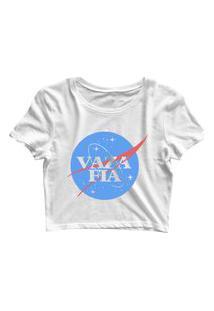 Blusa Blusinha Feminina Cropped Tshirt Camiseta Vaza Fia Branco