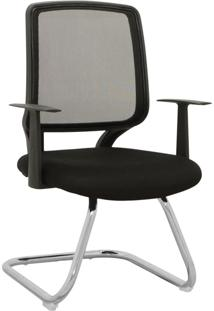 Cadeira De Escritório Fixa Avila-Rivatti - Preto