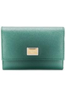 Dolce & Gabbana Carteira Com Placa De Ouro - Verde