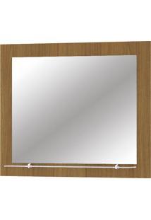 Espelho Para Banheiro Com 1 Prateleira Barcelona - Mgm - Nogueira