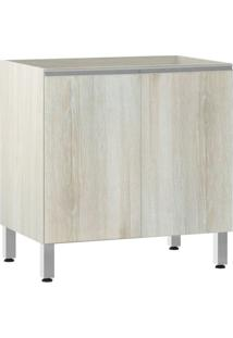 Módulo Cozinha Balcão Sem Tampo Lis 2 Portas - 80Cm - 2511/173 - Legno Crema - Prime Plus - Luciane